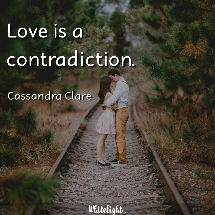 Love is a contradiction.  -Cassandra Clare